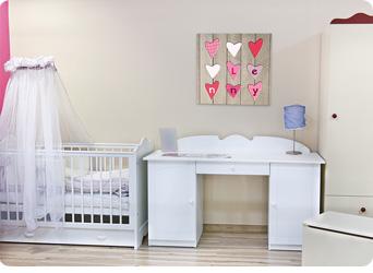 Exclusief Goedkope Babykamer : Geboortekaartje op canvas