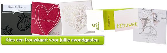 Fabulous Tekst trouwkaart avondgasten - Teksten voor avondgast #XA34