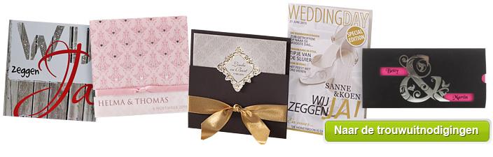 Bekend Trouwuitnodiging - Online trouwuitnodigingen bestellen #LR34